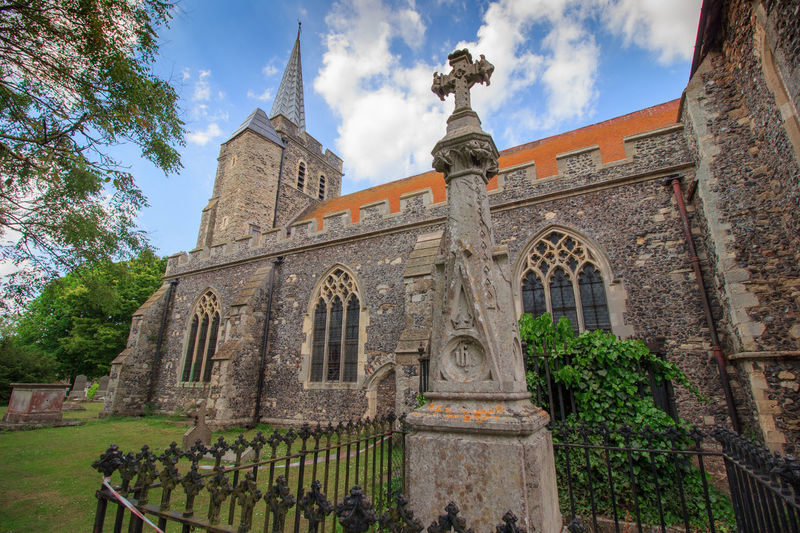 Minster upon Thanet, Kent, England. Architecture Built Structure Building Exterior Sky History Low Angle View The Past Building Nature Tree Plant Cloud - Sky Day No People Travel Destinations Place Of Worship Religion Belief Spirituality Outdoors