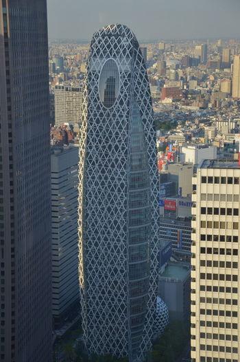 Japan Mode Gakuen Cocoon Tower Tokyo Architecture Building Exterior City Cityscape Modern Skyscraper
