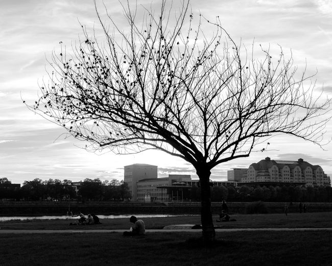 Open Edit Sunset People Watching Black And White Streetphoto_bw