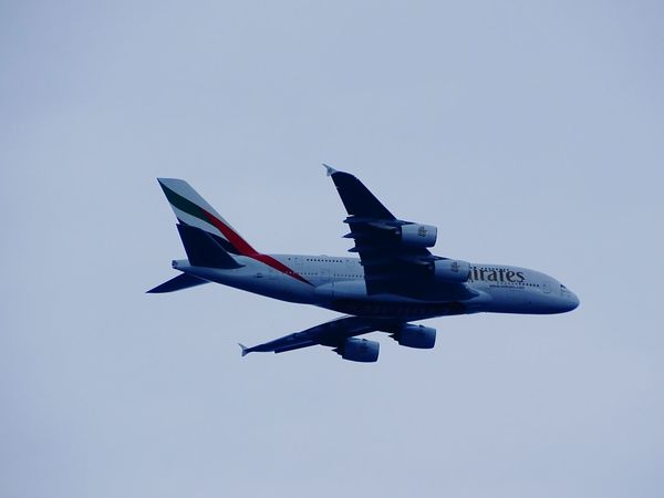 A380 Emiratesairline Transportation Mode Of Transport Air Vehicle Flying Flight Sky Travel Emirates Emirates Airline