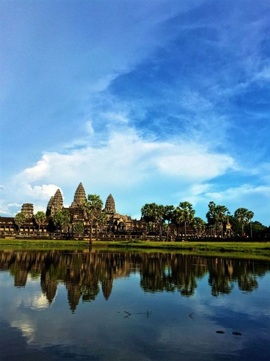 R E F L E C T I O N. Angkor Wat Cambodia Goasean World Heritage Water Reflections Travelling IPhoneography Iphonephotography Iphone6