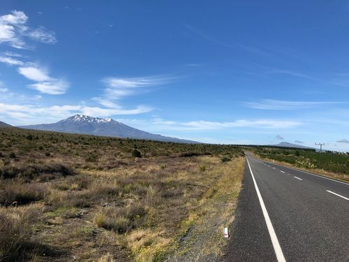 On the Road Road Sky Transportation Landscape The Way Forward Day Tranquil Scene Nature Outdoors Mountain No People Blue Beauty In Nature