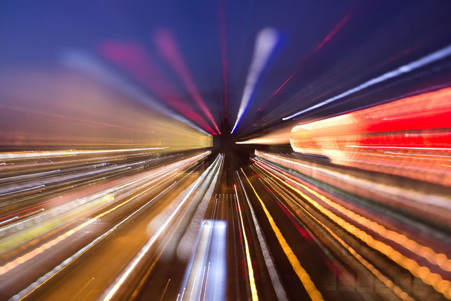 Abstract Activity Backgrounds Blurred Motion Brightly Lit City City Life Cityscape Colors Futuristic Illuminated Light Trail Long Exposure Mode Of Transport Motion Multi Colored Neon Night No People Outdoors Speed Transportation EyeEm Ready   AI Now Mobility In Mega Cities Stories From The City