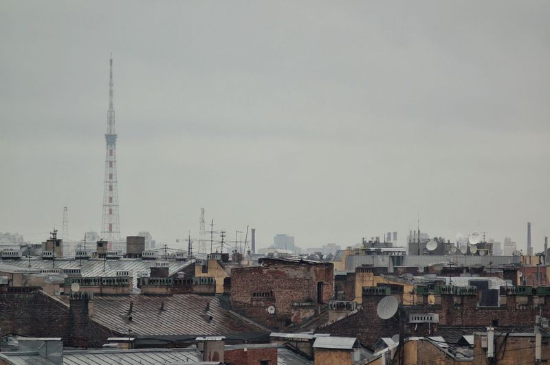 Broadcasting City Antenna - Aerial Architecture No People Sky Tower Antenna Antennas City View  City Skyline Cityscape Russia Saint Petersburg Saint Petersburg, Russia Roofs Roof Rooftop Rooftops Rooftop View  Horizontal Building Structures Санкт-Петербург