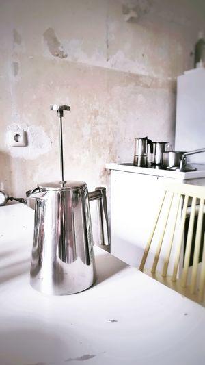 Kitchen Utensil On Table In Kitchen