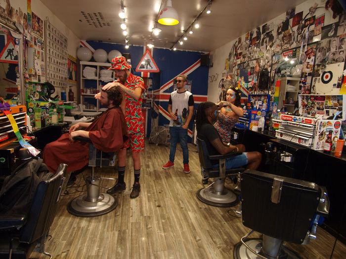 The Whacky Barber. Soho. London. 07-03-2017 #whackybarbour Barbour Hairdresser Hairdressers  Hairdressing London London Lifestyle London News Olympus Photojournalism Soho Steve Merrick Stevesevilempire Street Street Photography The Whacky Barbour Workplace Zuiko Wackybarber Wacky Barber