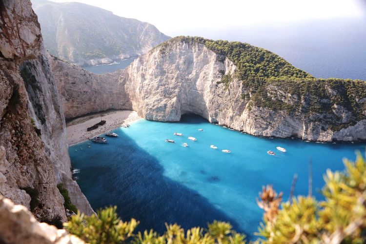 High angle view of zakynthos island