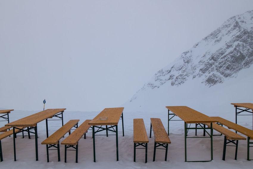 Winter in Soelden, Austria Bench Holidays Restuarant Skiing Snowboarding Winter Winter Sport Abandoned Cabin Chairlift Resort Ski Resort  Snow Snowy Sport Vacation