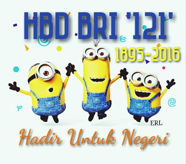 Happy Birthday Bank BRI '121' Always Be The Best BankRakyatIndonesia