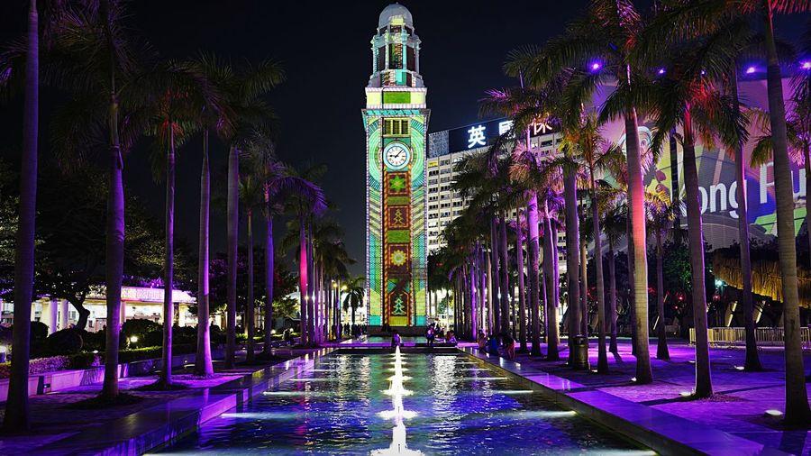 Clock Tower TST purple HongKong Discoverhongkong Clock Tower Tsim Sha Tsui 尖沙咀 Leica Leicaq Nightphotography Streetphotography 香港 夜景