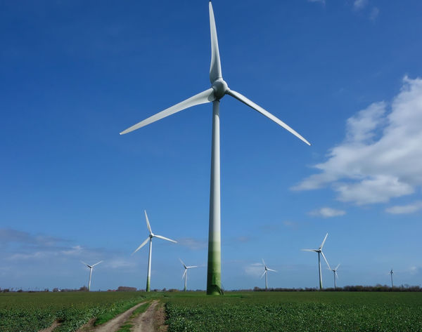 Green energy in the south of Germany Alternative Energy Environmental Conservation Field Fuel And Power Generation Green Energy Industrial Windmill Landscape Low Angle View No People Outdoors Renewable Energy Renewables Rural Scene Technology Wind Power Wind Turbine Windmill