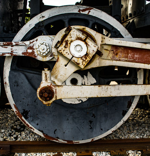 Close-up Locomotive Machine Part Machinery Metal No People Rusty Steam Train Steam Train Wheels Train Wheel