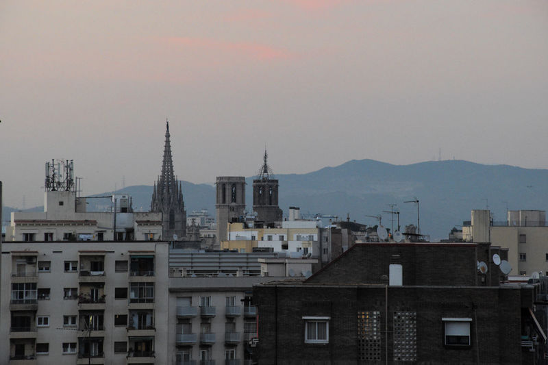 Poble-sec Residential district in Barcelona city. Crowded Crowd Buildings Housing Settlement City Life Autumn Sunset Europe Barcelona Urban Landscape City Building No People Residential District Cityscape Outdoors Roof