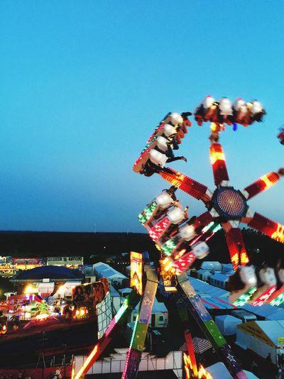 Amusement Park Clear Sky Outdoors Enjoying Life