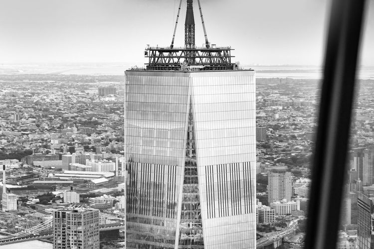 Freedom Tower NY Architecture Built Structure City Building Exterior No People Day Skyscraper Cityscape Outdoors Sky Ladyphotographerofthemonth New York Aerial Shot Aerial Photography Aerial Landscape Out Of An Helicopter Freedom Tower Blackandwhite