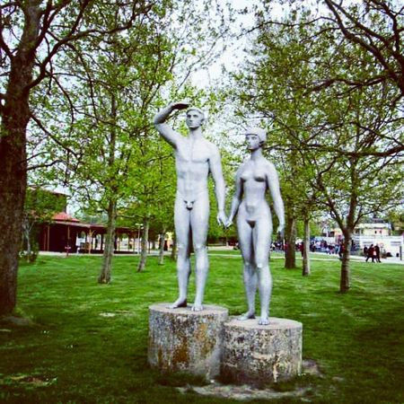 Watch These guys are Watching the Shores of the Lake Balaton at Fonyód Hungary Sculpture Art Symbol Mik Ikozosseg Canon Love Lovers Couple Man Woman Handinhand The Photojournalist - 2016 EyeEm Awards The Street Photographer - 2016 EyeEm Awards