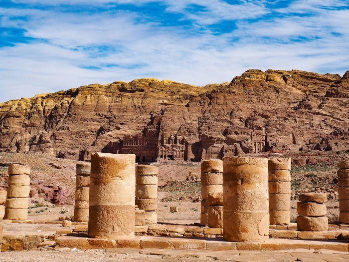 Ancient architecture against sky