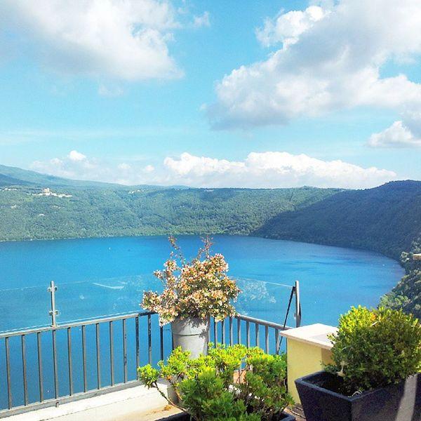 La terrazza sul lago ♥ Terrazza Lago Albano Castelgandolfo vacanze casaludo fantastica vistamozzafiato