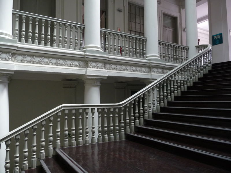 Architectural Column Architecture Built Structure Colonialism Hand Rail Indoors  No People Railing Staircase Stairs Steps Steps And Staircases White