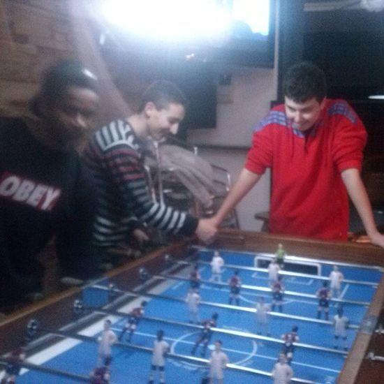 Echando futbolos con los mejores