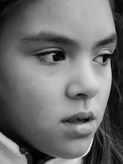 Close-up portrait of teenage girl