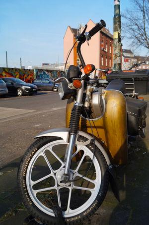 At Kiefernstrasse, Düsseldorf. Duesseldorf Motorbike No People Outdoors Road Street Street Art/Graffiti Transportation