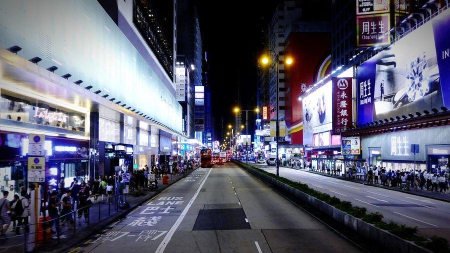 Nathan Rd. Hong Kong Discoverhongkong Leica DMC_CM1 Night Photography Streetphotography Mobile Photography Street Nathan Rd Kowloon