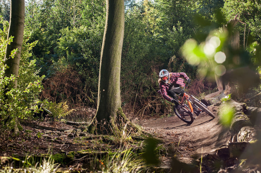 Downhill Mountainbike Trek The Action Photographer - 2015 EyeEm Awards Check This Out Ruhrgebiet Essen City Ruhryork Sunny Day Essen