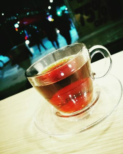 TURKISH TEA 🍵🌷 Indoors  Tea - Hot Drink Hello World Enjoying Life Happy Moments Turkish Tea LONDON❤ Oxfordstreet Night Life
