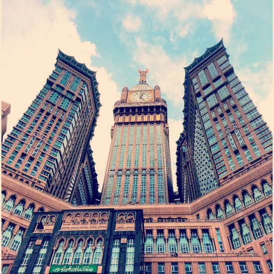 Architecture Building Exterior Built Structure City Cloud - Sky Day Low Angle View Makkah Mecca Modern No People Outdoors Sky Skyscraper Tower Travel Destinations Urban Skyline