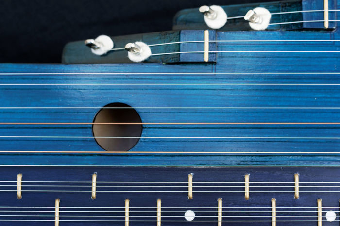 Arts Culture And Entertainment Blue Chord Close-up Jitters Music Musical Instrument Zither First Eyeem Photo
