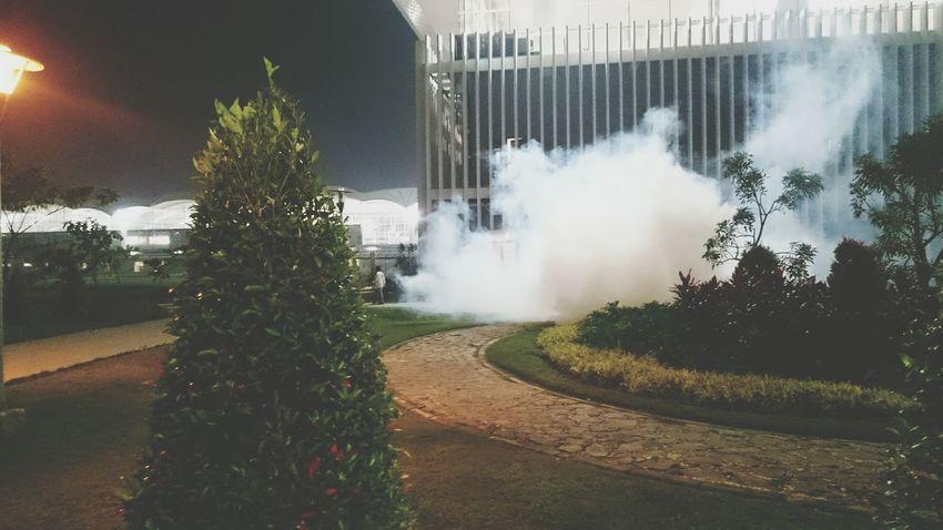 Smoke Asap Smoke Airport