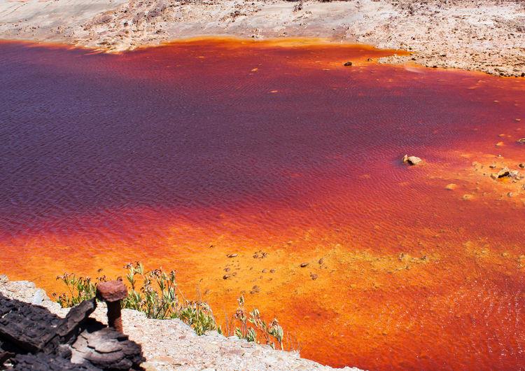 Colour Of Life River Colourful Mars Riotinto Screw Oxido  Orange Old Mine