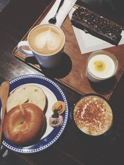 Afternoon Tea Bagel Caffè Au Lait Taipei