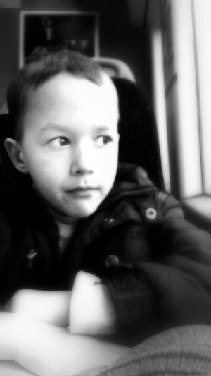Traveling Blackandwhite Train Portrait