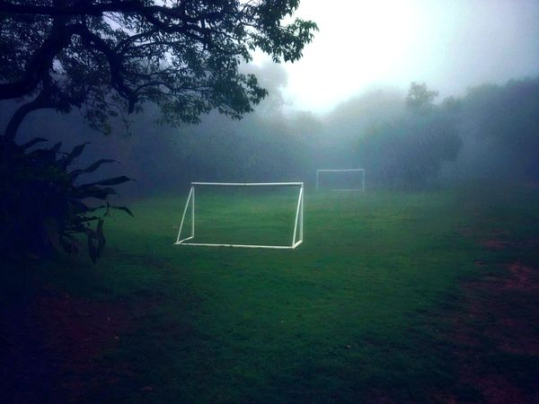 Up for a game? Soccer Soccer Field Sport Tree Goal Post Fog Grass No People Outdoors Day Misty Mahabaleshwar India Football Goalpost Serenity Trees Footsal Maharashtra Lost In The Landscape Nature Tranquillity Arena Rain Monsoon Be. Ready. Perspectives On Nature