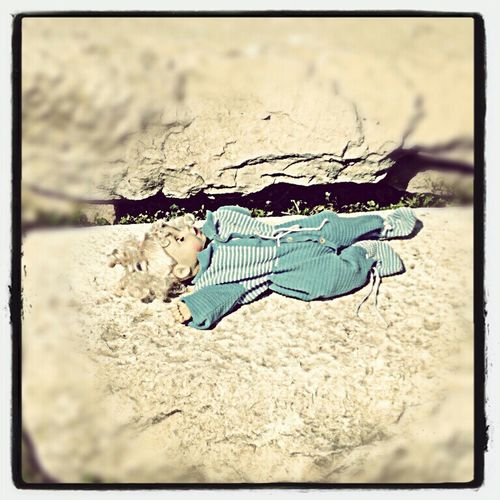 Doll left by children in the antic ruins of Tloss. Toys Taking Photos Old Toys Walking Around