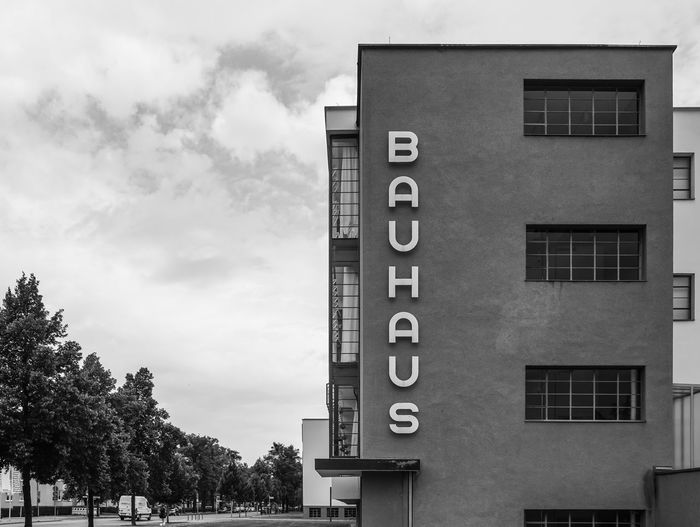 Low Angle View Of Bauhaus School Against Sky