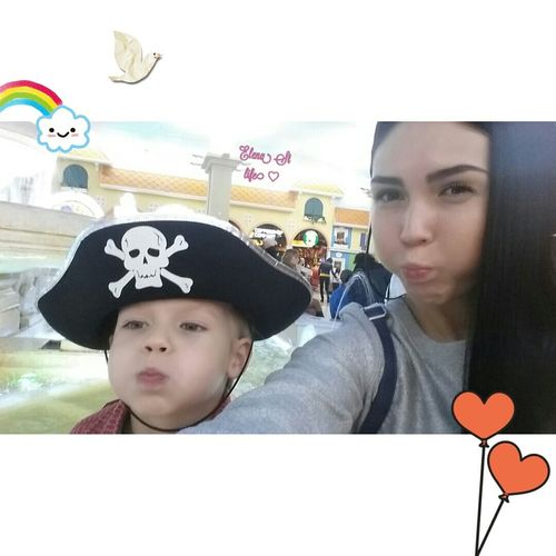 Me and my little pirate 💖 Photo Fase Kids Brunette Family Salfie MyHappiness♡ Girl People Russia