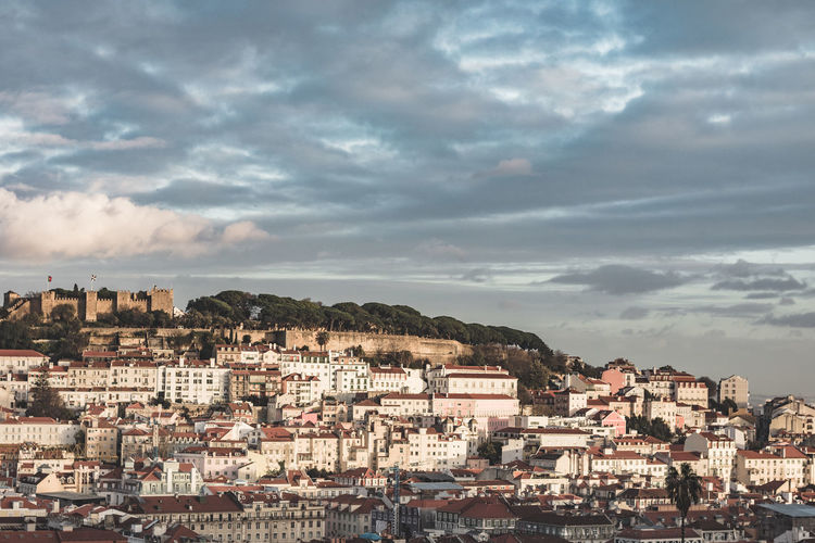 Architecture City City Life Cityscape Emotional Photography Moody Sky Portugal Weather Built Structure Ciy Clauds And Sky Edit Lisbon Nostalgia Sunset Tourism