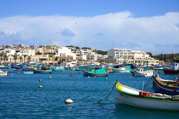 Ea-malta Waterfront Water City Architecture Marsaxlokk Harbour Marsaxlokk Maltaphotography Malta