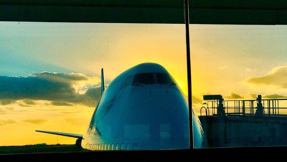 Airplane Transportation Travel Sky Sunset No People Cloud - Sky Virgin Atlantic