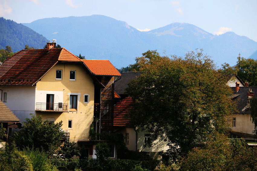 Slovenia Architecture Building Exterior Day Mountain Range No People Outdoors Radovljica Residential District Roof September 2018 TOWNSCAPE