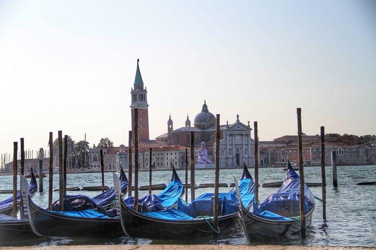 Gondolas San Giorgio Maggiore Venice, Italy