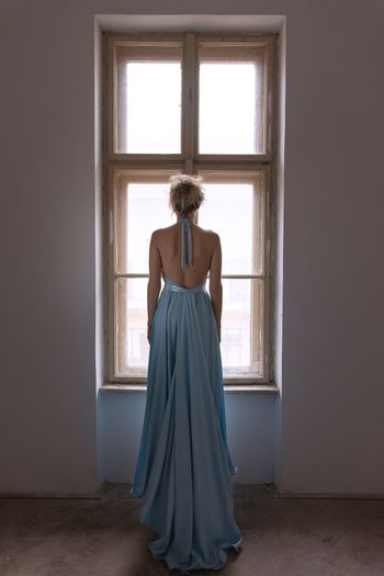 When Cinderella finds her way My Best Shot One Person Rear View Adult Indoors  Standing Full Length Women Dress Clothing Window Fashion Looking Lifestyles Beauty Contemplation International Women's Day 2019