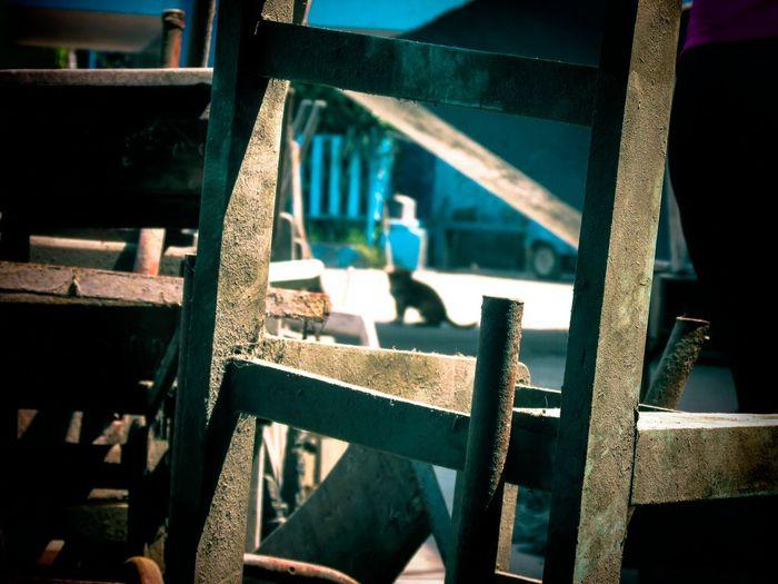 Close-Up Of Rusty Ladder
