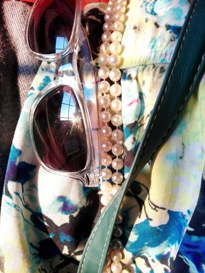 Exploring Style Floral Prints, Pearls and Sunglasses