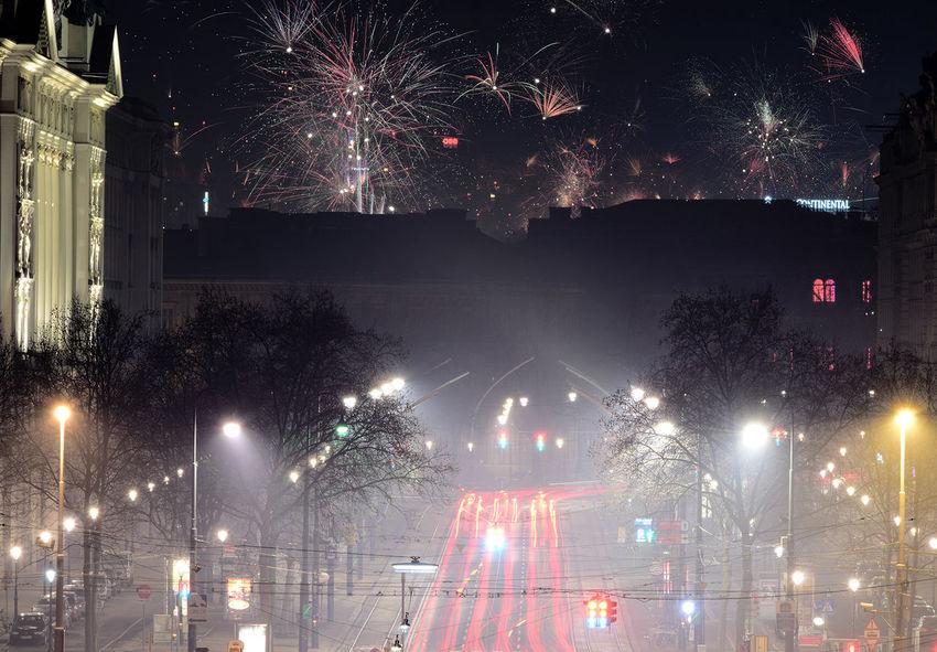 2017 New Year Austria Fireworks Happy New Year Night Night Lights Night Photography Nightphotography Silvester Vienna Wien