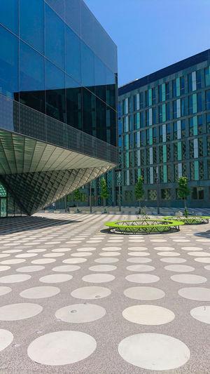 Modern building against clear sky