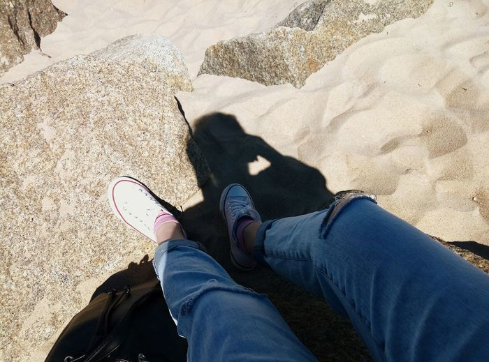 One Person Human Leg Human Body Part Shoe Selfie Human Foot Beach Shadow People Lifestyles Sunlight Day Real People One Man Only Sun Gdansk Gdansk, Poland